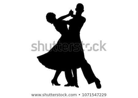 Tango dansers silhouetten sexy mode paar Stockfoto © bokica