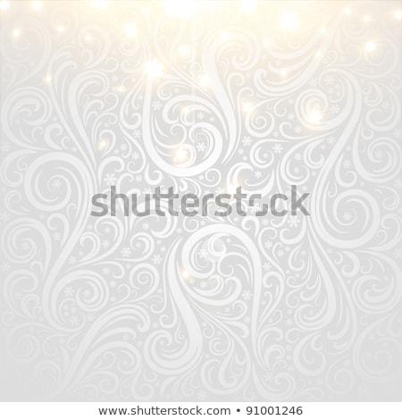 elegante · natal · prata · flocos · de · neve · arte · 2016 - foto stock © rommeo79