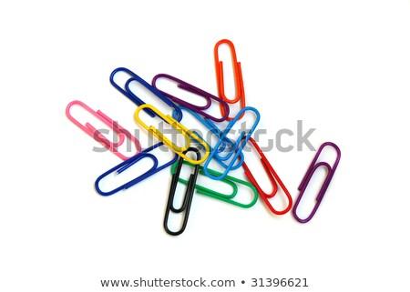 Photo stock: Papier · blanche · couleur