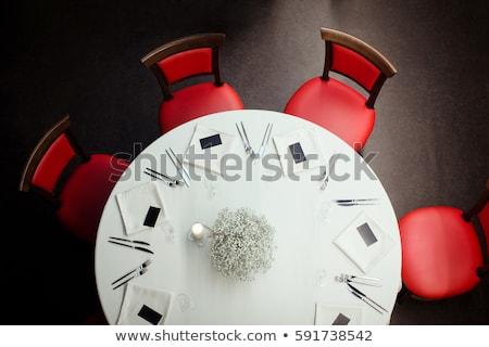 ebéd · asztal · sarok · kényelmes · ház · terv - stock fotó © jrstock