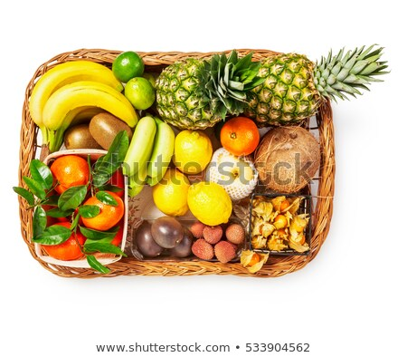 Yellow vegetables and fruit in tray Stock photo © ozgur