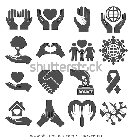 Donation and charity icons Stock photo © Winner
