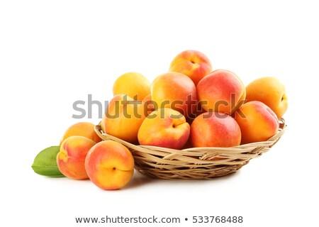 kosár · sok · kész · étel · gyümölcs · kert - stock fotó © funix