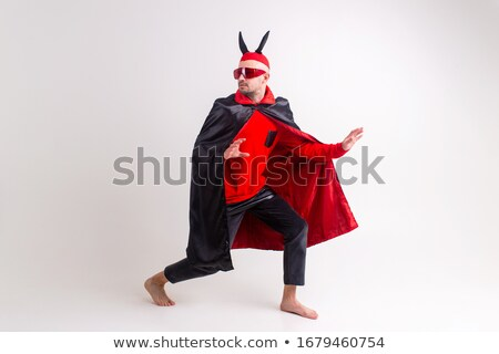 Homme diable rouge costume fête sexy Photo stock © Elnur