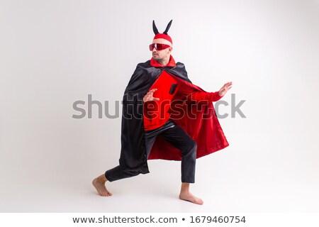 Uomo diavolo rosso costume party sexy Foto d'archivio © Elnur
