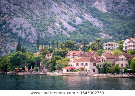 bay of kotor night panorama stock photo © steffus