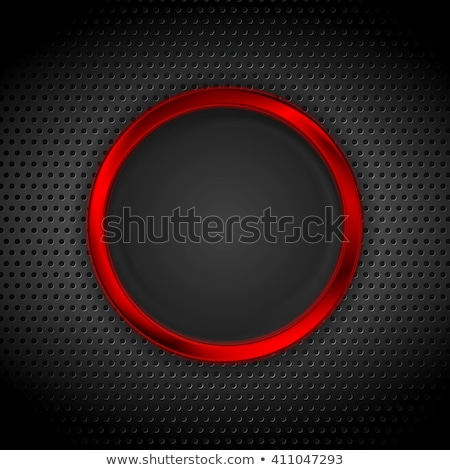 Bright red ring on perforated metallic texture Stock photo © saicle