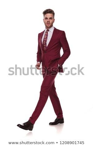 egészalakos · kép · fiatal · jóképű · üzletember · nyitás - stock fotó © feedough