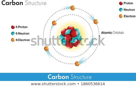 икона элемент углерод белый технологий Сток-фото © bluering