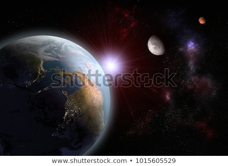 earth moon and sun alignment stock photo © bluering