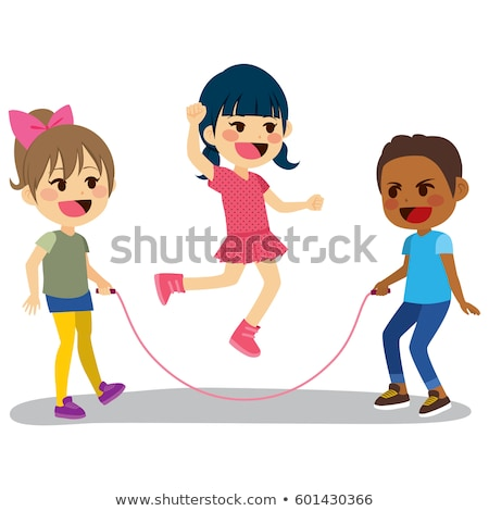 A young Asian boy playing skipping rope Stock photo © bluering