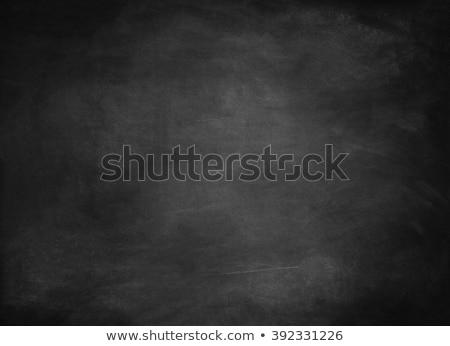 Сток-фото: Empty Chalkboard With Chalk