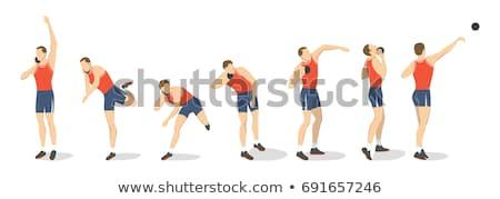 ショット スポーツ アイコン 男 フィールド シルエット ストックフォト © Twinkieartcat