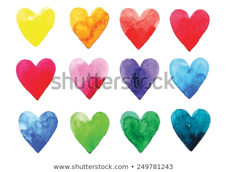 Aquarel harten kaart abstract kunst Stockfoto © pakete
