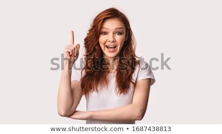 Idéia jovem alegre mulher Foto stock © andreasberheide