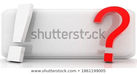 man on a glossy blue question mark 3d render stock photo © andreasberheide