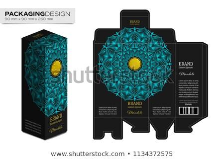 Green cosmetic packaging box Stock photo © ozaiachin