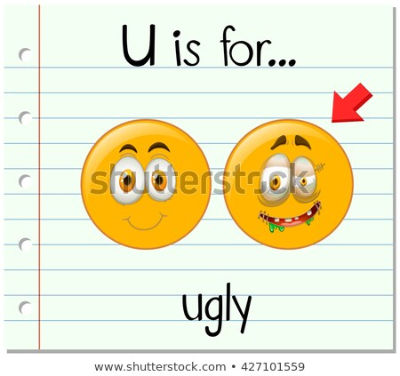 Flashcard letter U is for ugly Stock photo © bluering