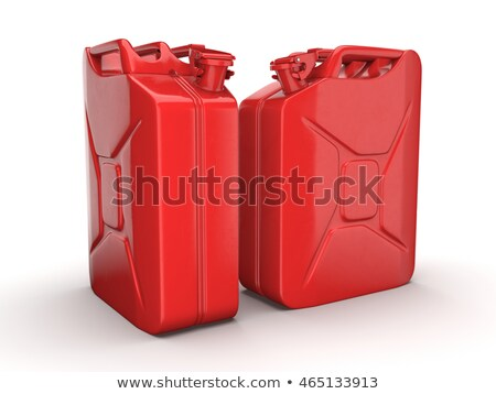 two jerrycans on white stock photo © pakete