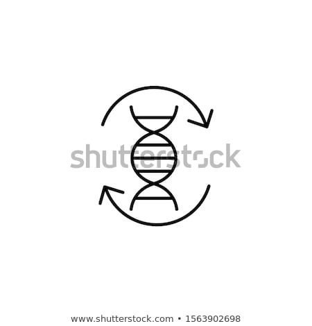 buttons with dna symbols stock photo © bluering