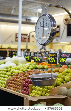 Measurement scales and fresh fruits Stock photo © bluering