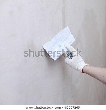 Estuco cemento de trabajo construcción pared trabajo Foto stock © zurijeta