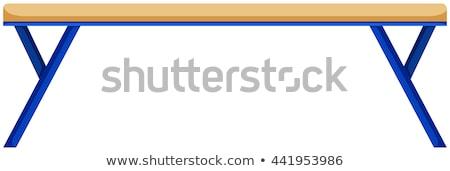 Egyensúly nyaláb kék lábak illusztráció háttér Stock fotó © bluering