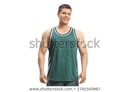 Man basketbal pose witte eps 10 Stockfoto © Istanbul2009