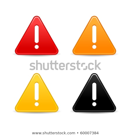 Security Alert Icon. Grey Button Design. Stock photo © WaD