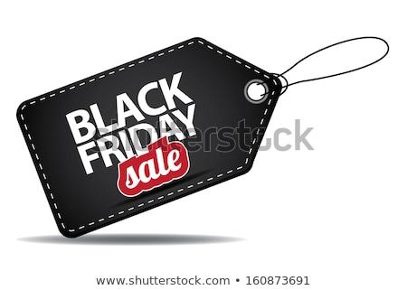 черная пятница продажи тег прибыль на акцию 10 реалистичный Сток-фото © beholdereye