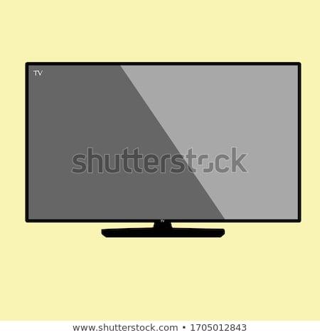 LCD tv modern mutat gyönyörű fiatal nő Stock fotó © iko