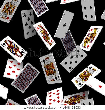 Stock fotó: ászok · kártyapakli · végtelen · minta · zöld · hazárdjáték · ismétlés