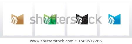 Сток-фото: дизайн · логотипа · документа · архив · бумаги · веб · печать