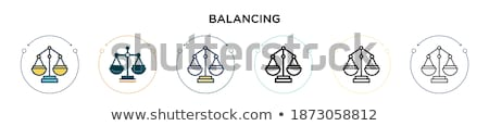 Crime and Punishment two color Icons Set Stock photo © -TAlex-