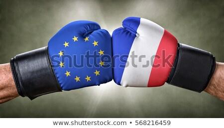 Boxeo partido europeo Unión Francia negocios Foto stock © Zerbor