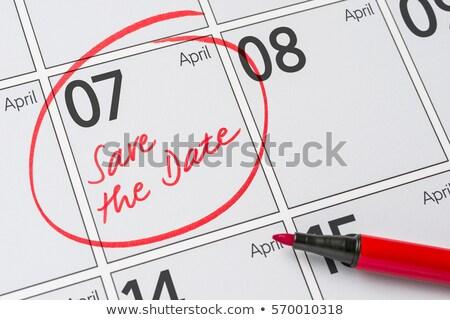 dag · datum · kalender · afspraak · woord · geschreven - stockfoto © zerbor