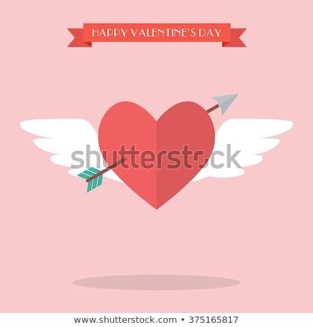 propósito · coração · voador · seta · dia · dos · namorados · casamento - foto stock © Natali_Brill