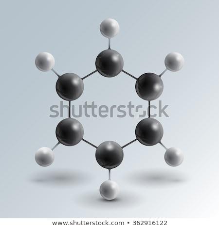 Molekularny struktury 3d ilustracji streszczenie tle podpisania Zdjęcia stock © tussik