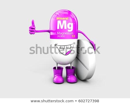 Mineraal magnesium pil cartoon capsule Stockfoto © tussik