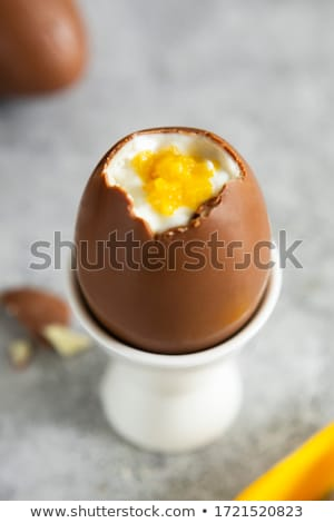 chocolate mousse with easter eggs Stock photo © M-studio