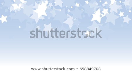 rectangular frame with small blue snowflakes stock photo © swillskill