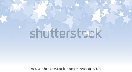 Négyszögletes keret kicsi kék hópelyhek réteges Stock fotó © SwillSkill