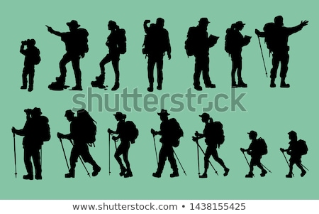 silhouettes of hikers Stock photo © ongap