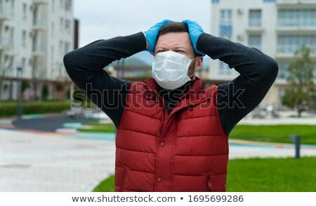 Ansioso homem cara nervoso moço pessoas Foto stock © Kurhan