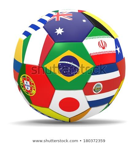 Brazilian Flag And Soccer Ball Stock photo © albund