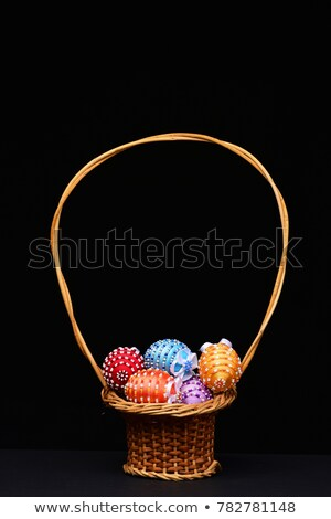 easter eggs decorated with beads stock photo © caimacanul