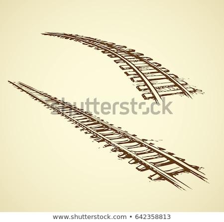 無限 鉄道 トラック セクション 無限大記号 ストックフォト © albund