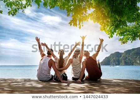 Stock fotó: Happy On An Island