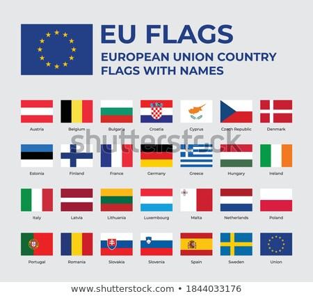 ストックフォト: Eu · フラグ · 国 · ヨーロッパの · 組合 · メンバーシップ