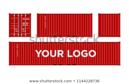scheepvaart · container · Rood · geven · geïsoleerd · witte - stockfoto © albund